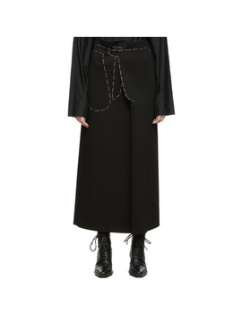 Black Jersey Long Skirt by Maison Margiela