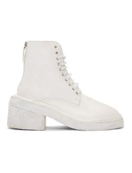 White Burraccio Polacchino Boots by MarsÈll