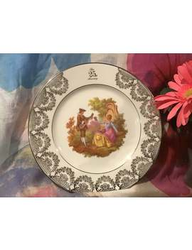 Vintage 1940s Limoges Castel 25th Anniversary Plate by Etsy