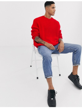 Красный Oversize джемпер в рубчик Asos Design by Asos Design