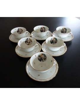 Six Renoir Limoges Porcelain Cups And Saucers. Renoirs' Le Dejeuner Des Canotiers Limoges Cups And Saucers. by Etsy