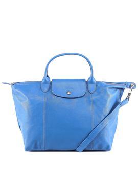 Longchamp Le Pliage Cuir Top Handle M Bag by Longchamp Longchamp