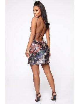 Born Wild Satin Mini Dress   Mauve/Hunter by Fashion Nova