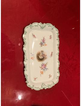 Gt Cloud Rectangular Plate With Colonial Couple Painting And Decorative Edging by Etsy