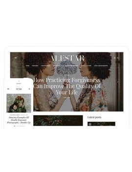 Alestar | Premade Blogger Template   Responsive Blogger Theme   Premade Blog Template, Blogger Design, Blog Design by Etsy