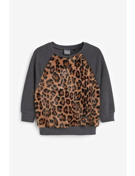 Animal Print Fleece Crew Top (3mths 7yrs) by Next