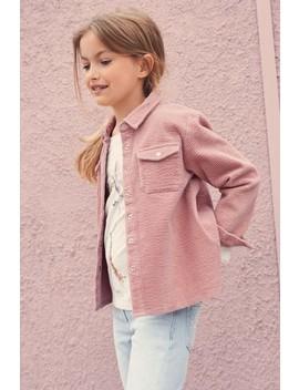 Pink Cord Overshirt (3 16yrs) by Next