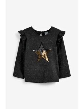 Long Sleeve Sequin Star Top (9mths 7yrs) by Next