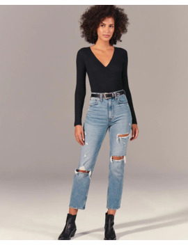 Ultra High Rise Straight Jeans by Abercrombie & Fitch