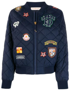 Quilted Badge Jacket by Tory Burch