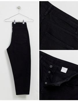 Черные зауженные джинсы из денима плотностью 14 унц Asos White by Asos White