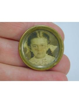 Antique Real Victorian Era Photograph Mourning ? Pin Or Brooch Dr5 by Etsy