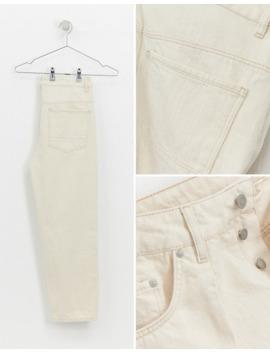 Светло бежевые укороченные джинсы Asos White by Asos White
