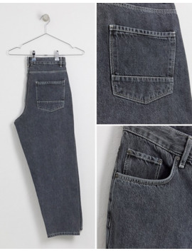 Черные выбеленные суженные книзу джинсы из денима плотностью 14 унции Asos White by Asos White