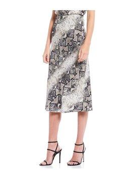 Everyday Snakeskin Print Midi Skirt by Sanctuary