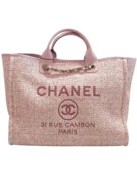 Deauville Pink Tote by Chanel