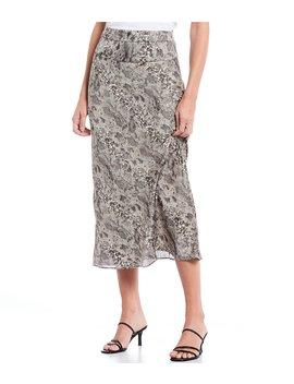 Normani Bias High Waist Snake Print Midi Skirt by Free People