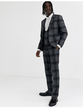 Twisted Tailor Super Skinny Fit Suit Pants In Wide Gray Check by Twisted Tailor