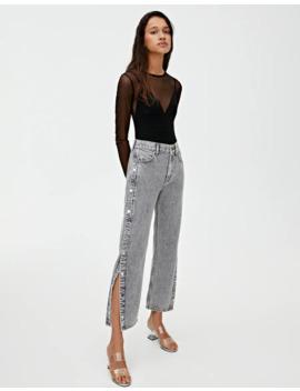 Jeans Mom Fit Com Botão De Pressão by Pull & Bear