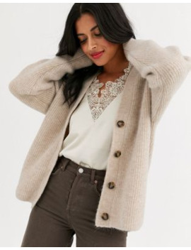 &Amp; Other Stories Premium Alpaca Blend Cardigan In Beige by & Other Stories