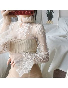 Mikiga   Long Sleeve Lace Top by Mikiga
