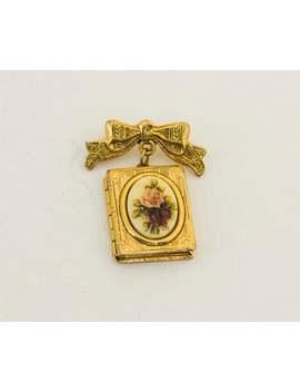 Locket Brooch, Memorial Locket, Locket Broach, Memory Locket, Photo Locket, Vintage Broach, Victorian Brooches, Rose Brooch, Bow Brooch by Etsy