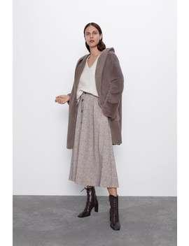 Palton Reversibil Cu Efect De BlanĂ by Zara