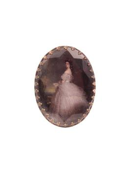 Vintage Photo Portrait Pin Brooch Edwardian Victorian Style Miniature Photo Lady In Ball Gown by Etsy