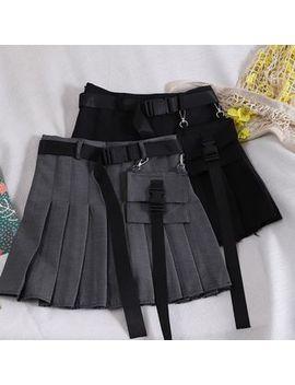 Pinatra   Cargo Pleated Skirt by Pinatra