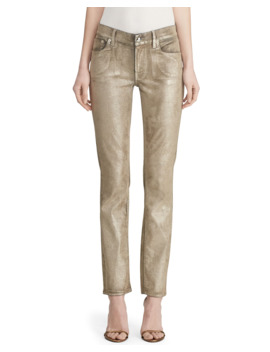Metallic Painted Skinny Jeans by Ralph Lauren Collection