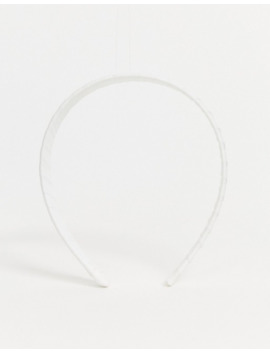 Asos Design Alice Band In White Ruched Fabric by Asos Design