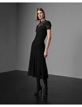 Silk Crochet Crewneck Dress by Ralph Lauren