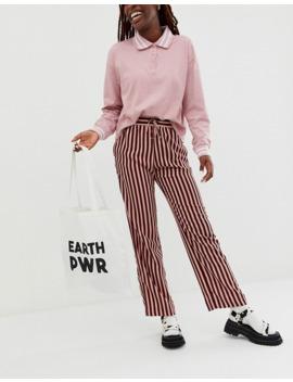 "Monki Earth   Maxi Borsa Con Scritta ""Earth Power"" In Cotone Organico Bianco Sporco by Monki"
