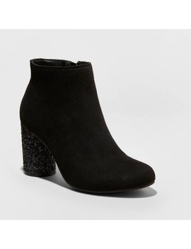 "<Span><Span>Women's Priscila Microsuede Glitter Heeled Bootie   A</Span><Br><Span>New Day</Span></Span><Span Style=""Position: Fixed; Visibility: Hidden; Top: 0px; Left: 0px;"">…</Span> by A New Day…"