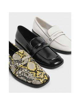 Glossy Finish Penny Loafers by Charles & Keith