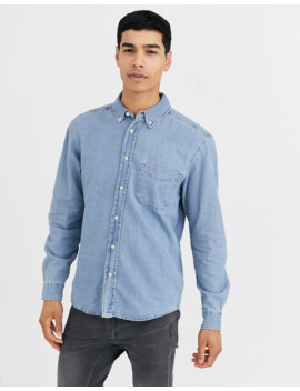 Pull&Amp;Bear Denim Shirt In Light Blue by Pull&Bear