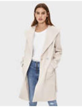 Μακρύ παλτό με ζώνη by Bershka