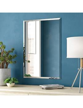 Lithonia Frameless Rectangle Wall Mirror by Zipcode Design