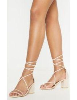 Nude Block Heel Sandal by Prettylittlething
