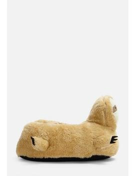 Camel Sloth Slippers by Missguided