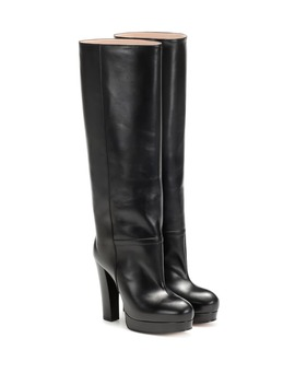 Leather Platform Boots by Gucci