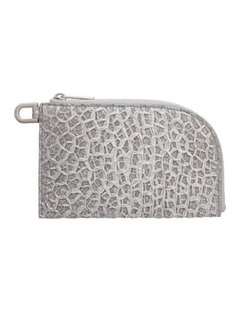 Silver Zip Pouch by Rick Owens