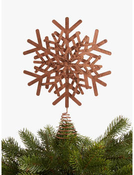 John Lewis & Partners Campfire Copper Snowflake Tree Topper by John Lewis & Partners
