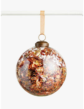 John Lewis & Partners Campfire Foil Filled Bauble, Antique Gold by John Lewis & Partners