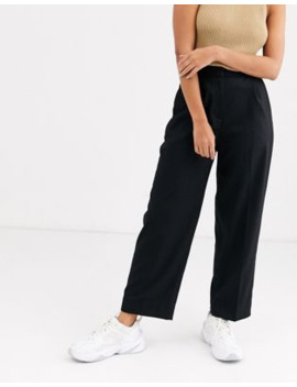 &Amp; Other Stories Straight Leg Tailored Trousers In Black by & Other Stories