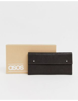 Asos Design Leather Travel Wallet In Vintage Brown by Asos Design