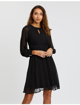 Dobby Chiffon Dress by Dorothy Perkins