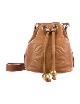 Vintage Drawstring Bucket Bag by Chanel