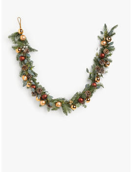 John Lewis & Partners Campfire Bauble Garland, Copper by John Lewis & Partners