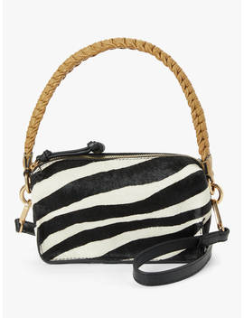 And/Or Puebla Leather Cross Body Bag, Zebra by And/Or
